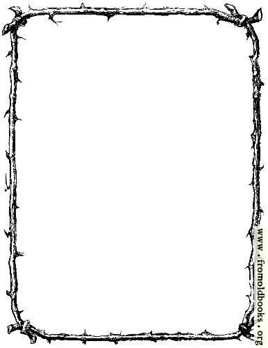 [Picture: Border of twigs (US Letter Sized Version)]