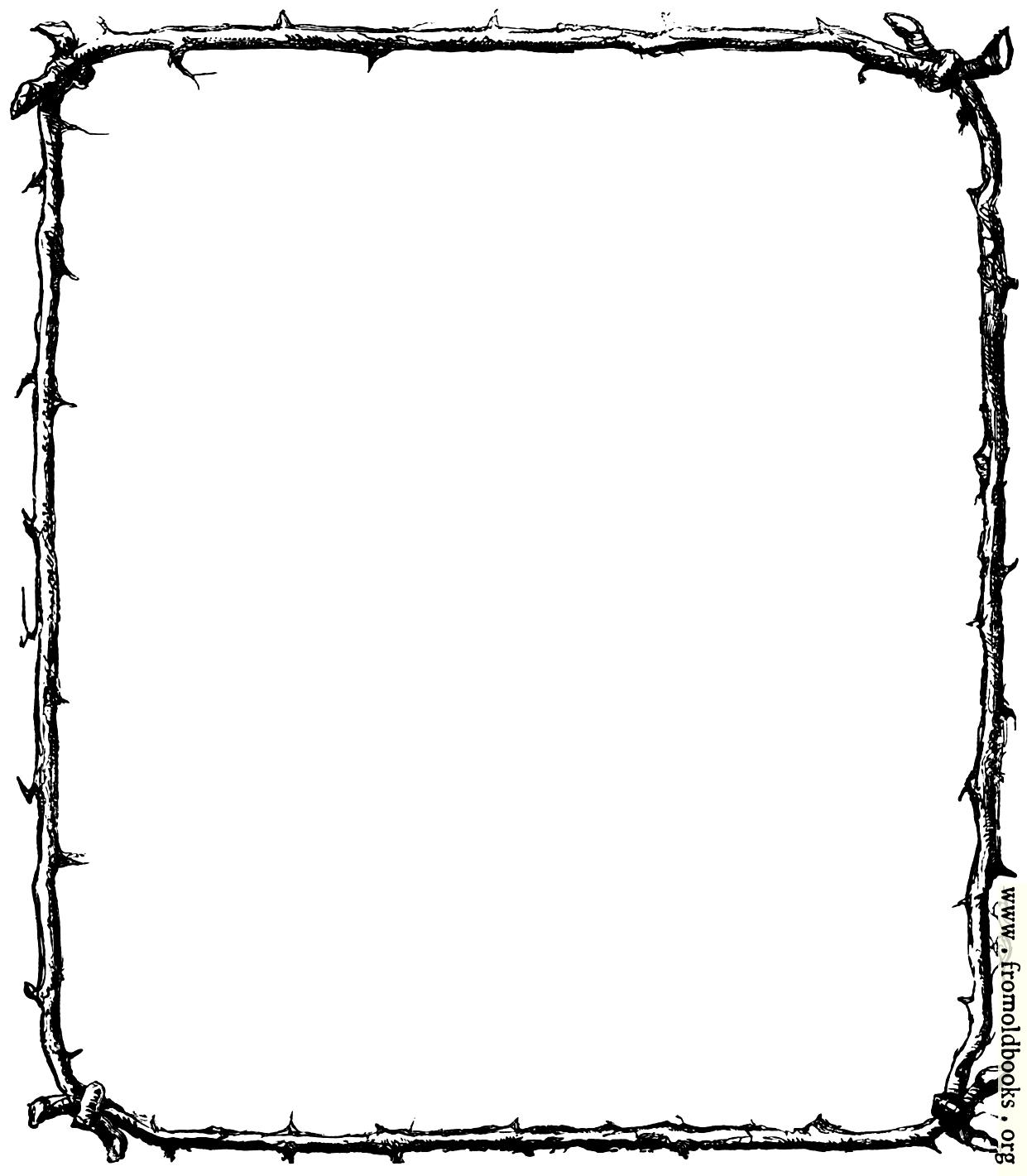 Rustic Border Of Twigs Rh Fromoldbooks Org