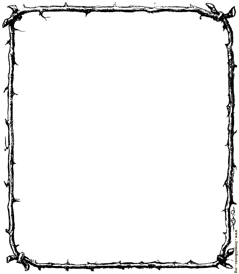 rustic border of twigs rh fromoldbooks org  free clipart diamond border