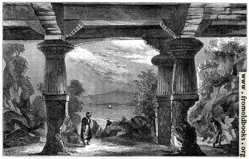 [Picture: Entrance to the Cave of the Elephanta]