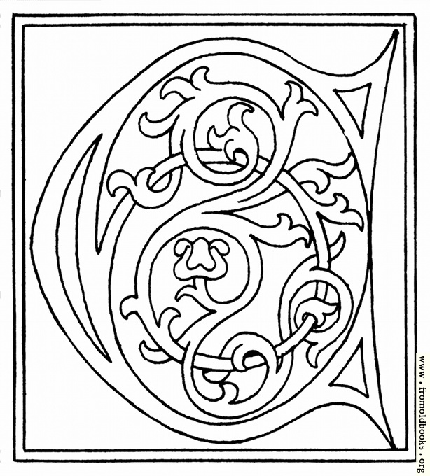 [Picture: clipart: initial letter C from late 15th century printed book]