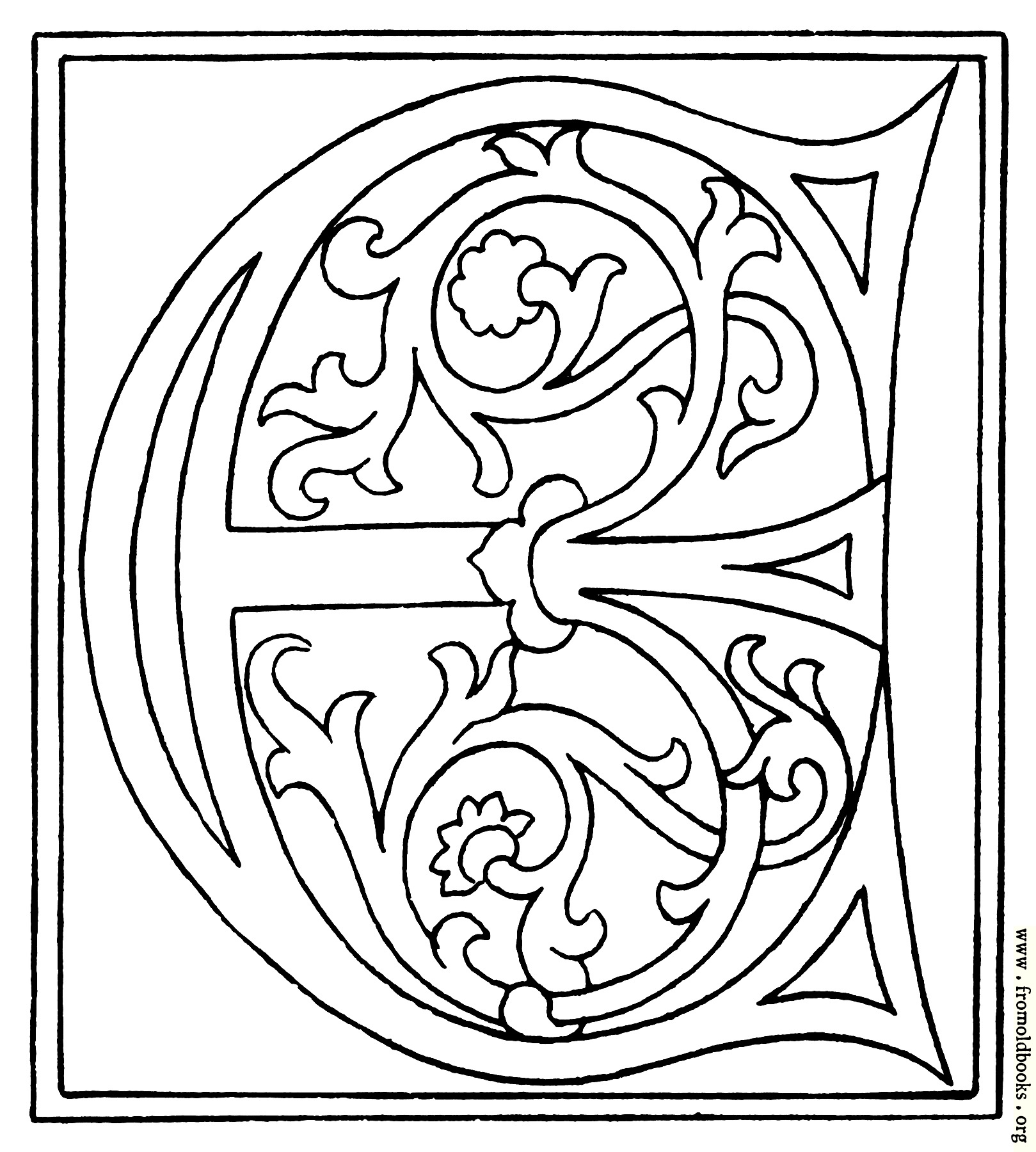[Picture: clipart: initial letter E from late 15th century printed book]
