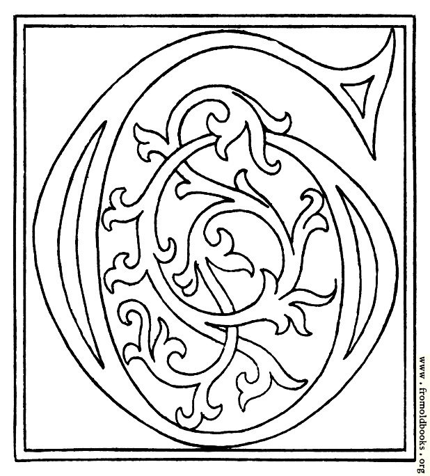 [Picture: clipart: initial letter G from late 15th century printed book]