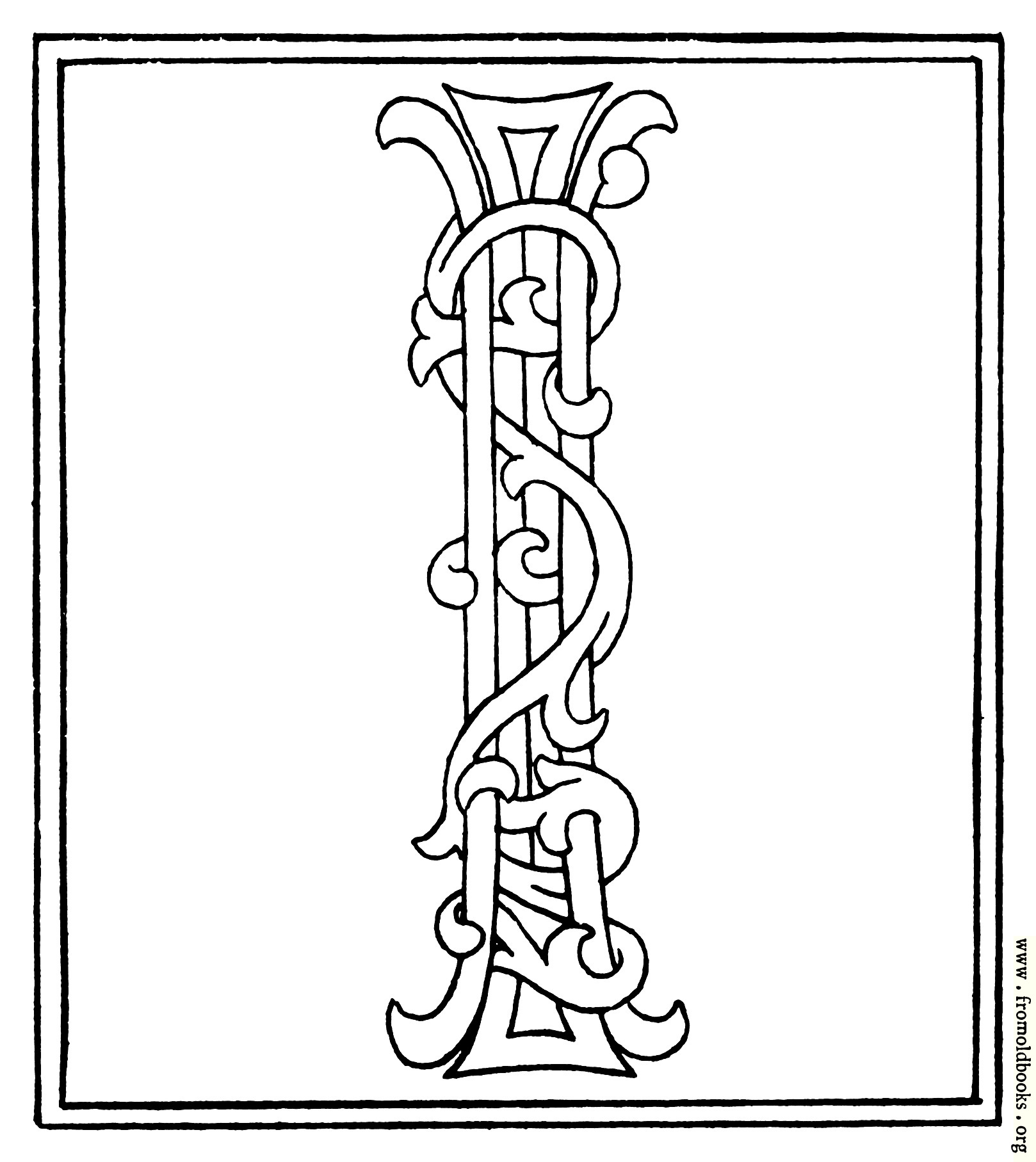 Clipart Initial Letter Late Century Printed Book