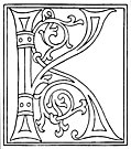 [Picture: clipart: initial letter K from late 15th century printed book]