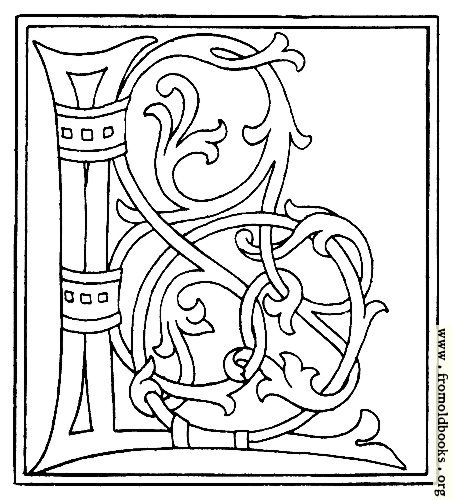 [Picture: clipart: initial letter L from late 15th century printed book]