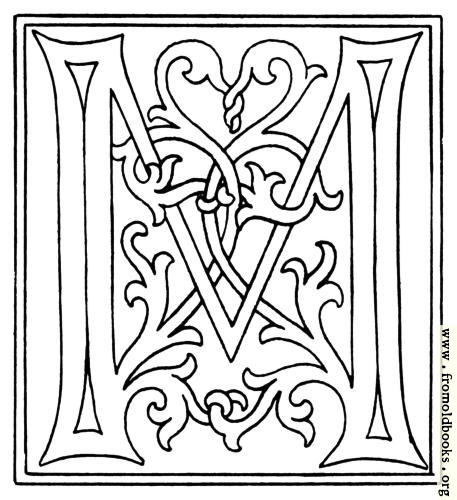 [Picture: clipart: initial letter M from late 15th century printed book]