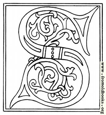 [Picture: clipart: initial letter S from late 15th century printed book]