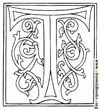 [Picture: clipart: initial letter T from late 15th century printed book]