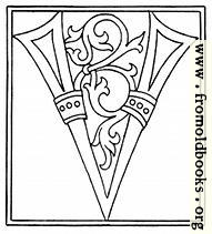 [Picture: clipart: initial letter V from late 15th century printed book]