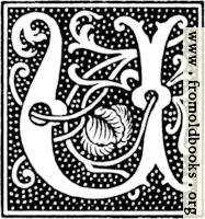 clipart: initial letter U from beginning of the 16th Century