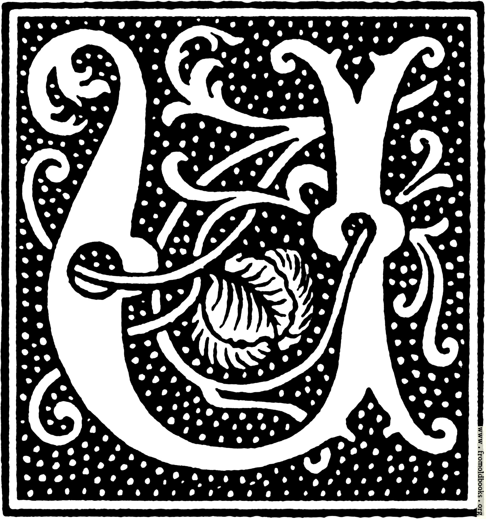 [Picture: clipart: initial letter U from beginning of the 16th Century]
