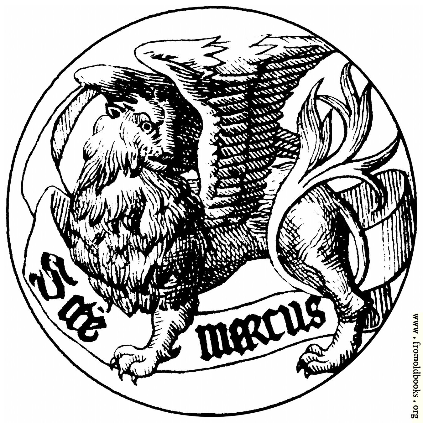 [Picture: Badge of Saint Mark the Evangelist]