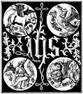 [picture: Sacred Monogram and Badges of the Apostles]