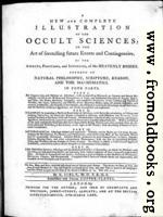 [Picture: Title Page, Sibly Astrology Book]