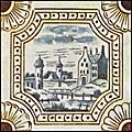 [picture: Dutch Delft ceramic tile 5]