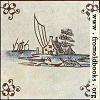 [picture: Dutch Delft ceramic tile 13]
