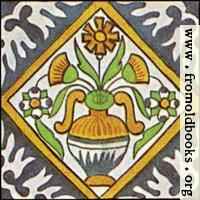 [picture: Dutch Delft ceramic tile 24]