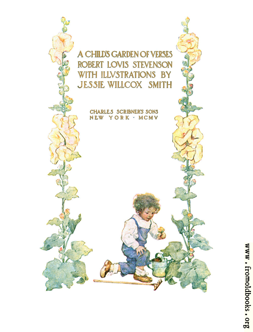 [Picture: Title page from A Child's Garden of Verses]