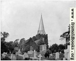 [Picture: Churchyard of Stoke-Pogis, England]