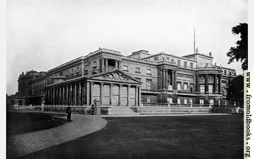 [Picture: IV.—West Front of Buckingham Palace.]