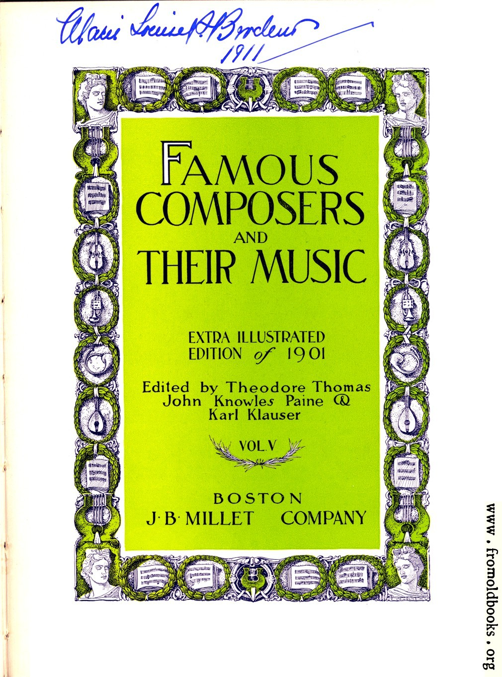 [Picture: Title Page from Famous Musicians]