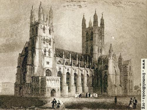 [Picture: Plate II. Canterbury Cathedral. South West View.]