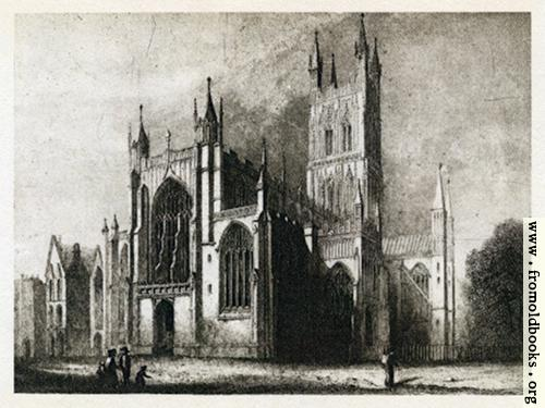 [Picture: Plate III. Gloucester Cathedral. West Front and South Side.]