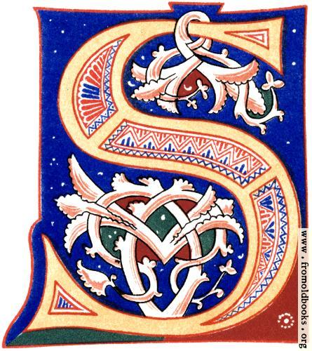 "[Picture: Decorative initial letter ""S"" from 11th century.]"