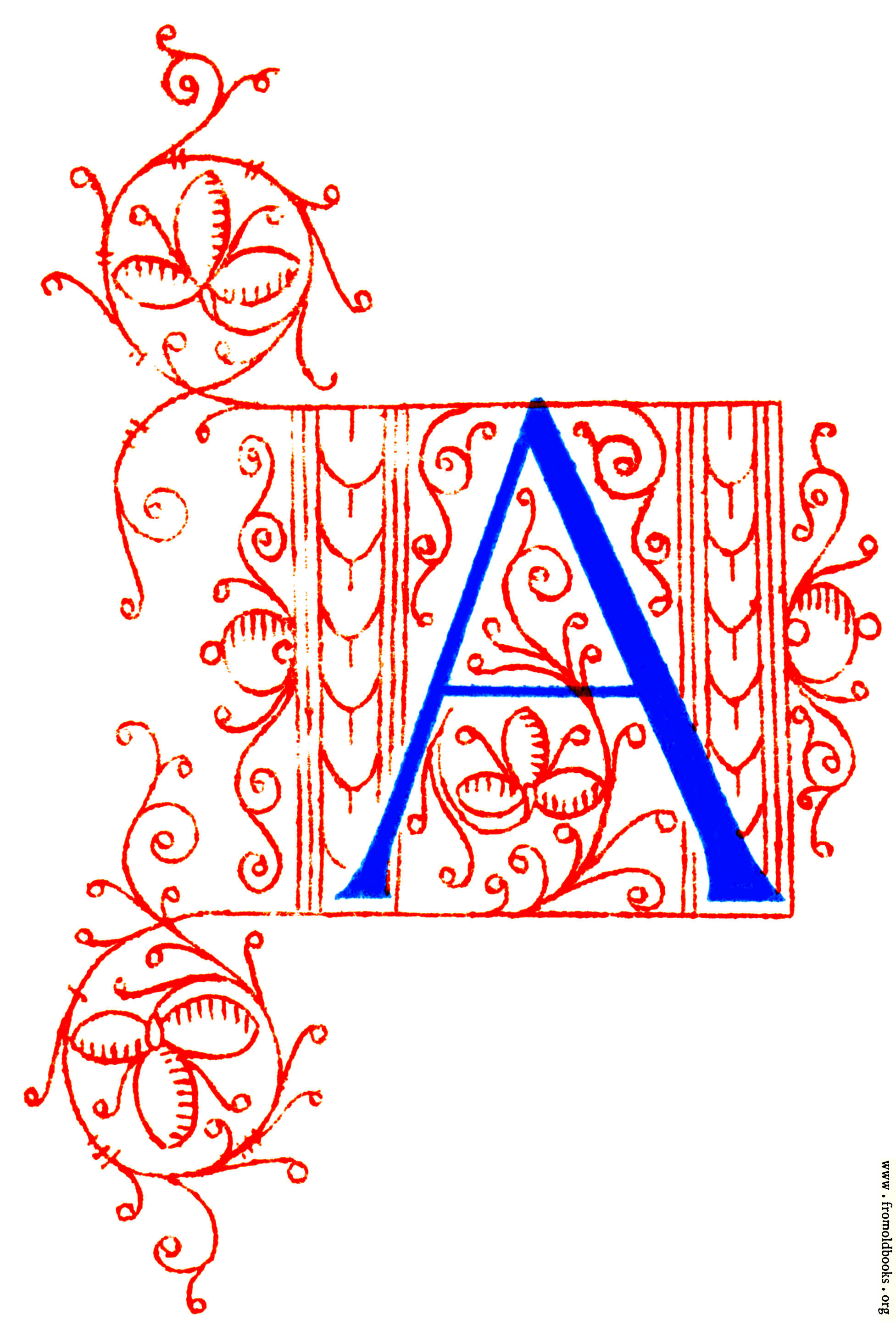 Letter A from Fifteenth Century No. 4