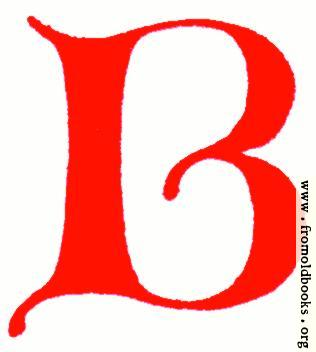 [Picture: Clip-art: calligraphic decorative initial capital letter B from XIV. Century  No. 1]