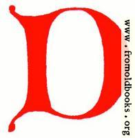 [Picture: Clip-art: calligraphic decorative initial capital letter D from XIV. Century  No. 1]
