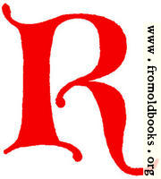 [Picture: Clip-art: calligraphic decorative initial capital letter R from XIV. Century  No. 1]