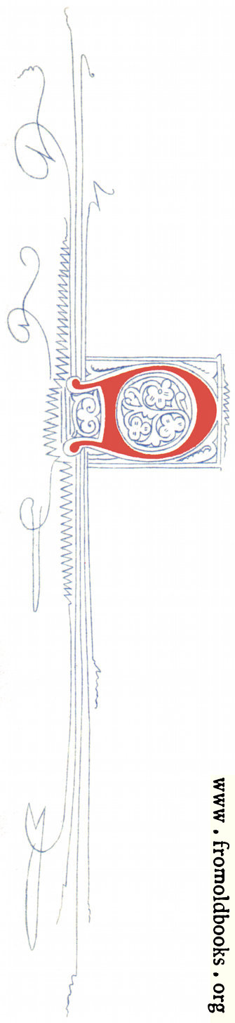 [Picture: Fourteenth Century Initial Letter D from Plate 65]