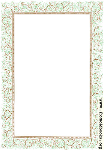 [Picture: Clip-art: Victorian Floriated Border in Green and Brown]
