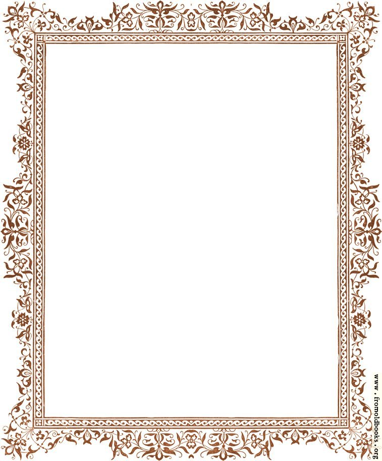 [Picture: Decorative clip-art Victorian border, antique brown]