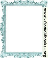 Decorative clip-art Victorian border, antique green