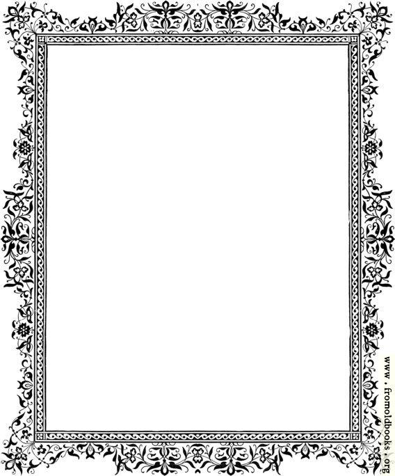 [Picture: Decorative clip-art Victorian border, Black and White]