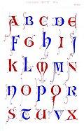 [picture: Plate 37.---Thirteenth Century No. 1: Alphabet overview]