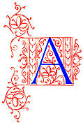 [picture: Letter A from Fifteenth Century No. 4]