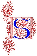 [picture: Decorative initial letter S from fifteenth Century Nos. 4 and 5.]