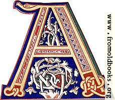 [picture: Decorative initial letter ``A'' from 11th century.]