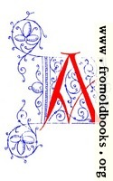 [picture: Decorative uncial initial letter A from fifteenth Century Nos. 4 and 5.]