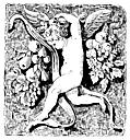 [picture: Cherub wth harvest fruit]