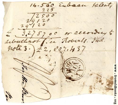 [Picture: Harwood 3: scrap of envelope.]