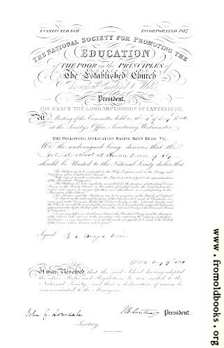 [Picture: Haynes School Charter from 1850]