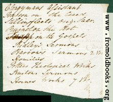[picture: Harwood 4: back of scrap of envelo;e.]