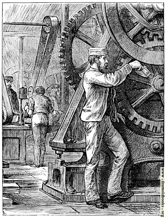 [Picture: Oiling the Wheels.]