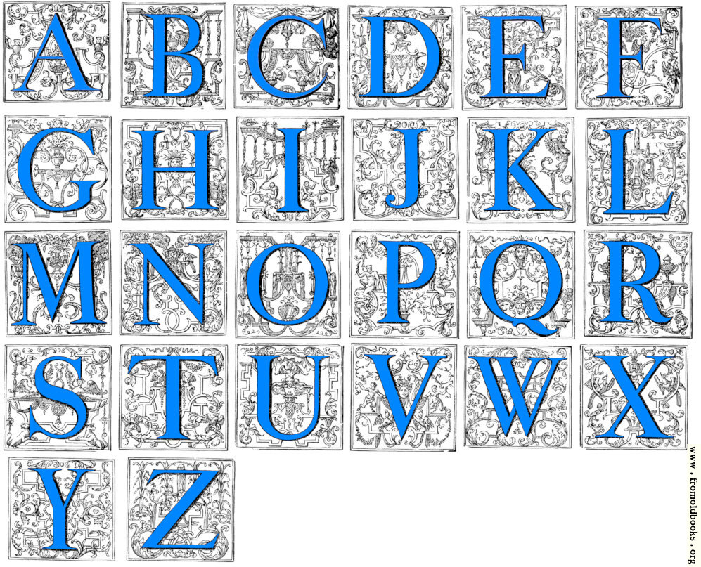 [Picture: Baroque Decorative Alphabet from Amsterdam]