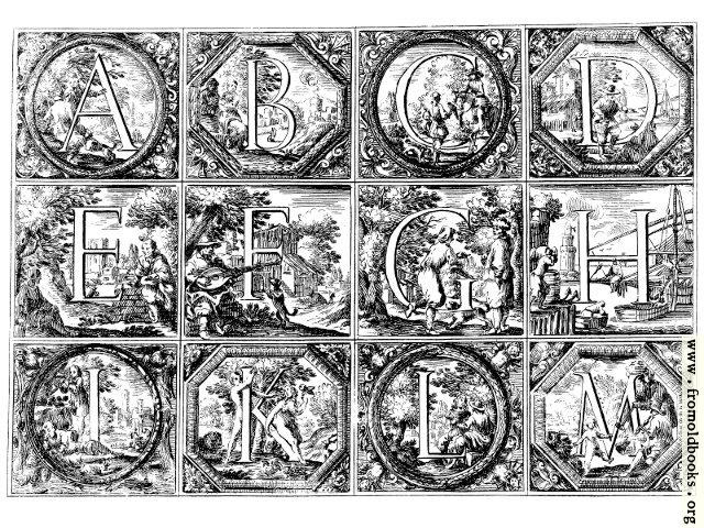 [Picture: Valerio Spada: Historiated Alphabet, 1656– 1659 [A-M]]